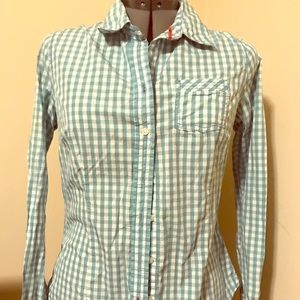 Gingham Blue/White Old Navy button-up shirt